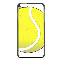 Tennis Ball Ball Sport Fitness Apple Iphone 6 Plus/6s Plus Black Enamel Case by Nexatart