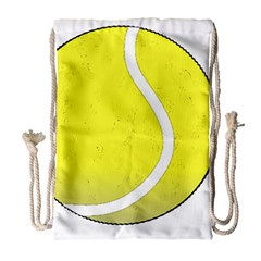 Tennis Ball Ball Sport Fitness Drawstring Bag (large)