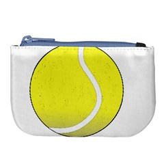 Tennis Ball Ball Sport Fitness Large Coin Purse by Nexatart