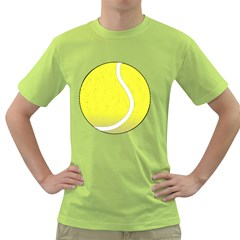 Tennis Ball Ball Sport Fitness Green T Shirt by Nexatart