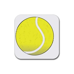 Tennis Ball Ball Sport Fitness Rubber Square Coaster (4 Pack)