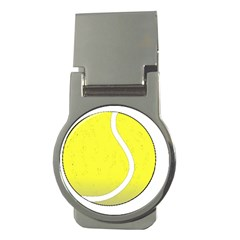 Tennis Ball Ball Sport Fitness Money Clips (round)  by Nexatart