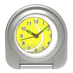 Tennis Ball Ball Sport Fitness Travel Alarm Clocks by Nexatart