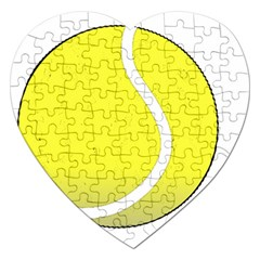 Tennis Ball Ball Sport Fitness Jigsaw Puzzle (heart)