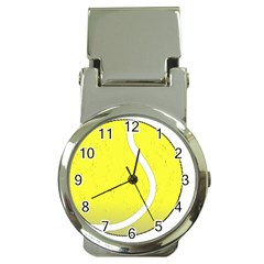 Tennis Ball Ball Sport Fitness Money Clip Watches by Nexatart