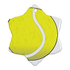 Tennis Ball Ball Sport Fitness Snowflake Ornament (two Sides) by Nexatart