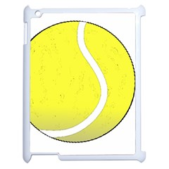 Tennis Ball Ball Sport Fitness Apple Ipad 2 Case (white) by Nexatart