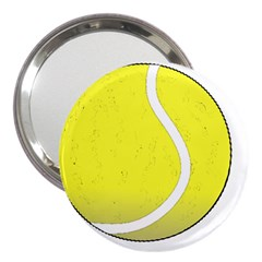 Tennis Ball Ball Sport Fitness 3  Handbag Mirrors by Nexatart