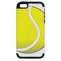 Tennis Ball Ball Sport Fitness Apple Iphone 5 Hardshell Case (pc+silicone) by Nexatart