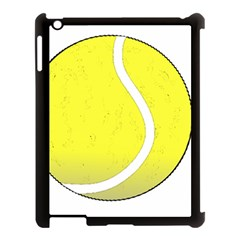 Tennis Ball Ball Sport Fitness Apple Ipad 3/4 Case (black) by Nexatart