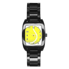 Tennis Ball Ball Sport Fitness Stainless Steel Barrel Watch by Nexatart