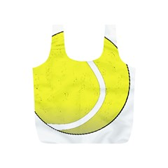 Tennis Ball Ball Sport Fitness Full Print Recycle Bags (s)