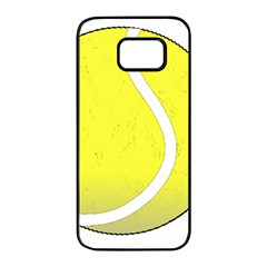 Tennis Ball Ball Sport Fitness Samsung Galaxy S7 Edge Black Seamless Case by Nexatart