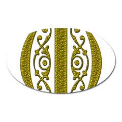 Gold Scroll Design Ornate Ornament Oval Magnet
