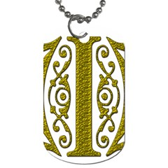 Gold Scroll Design Ornate Ornament Dog Tag (two Sides)
