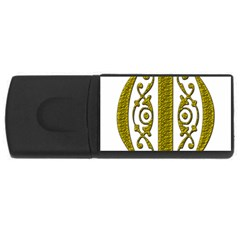Gold Scroll Design Ornate Ornament Usb Flash Drive Rectangular (4 Gb)