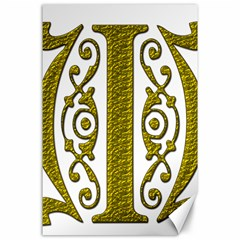 Gold Scroll Design Ornate Ornament Canvas 24  X 36