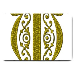 Gold Scroll Design Ornate Ornament Large Doormat