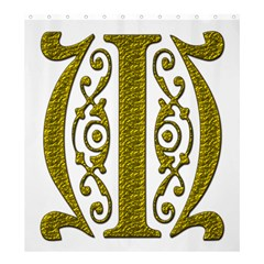 Gold Scroll Design Ornate Ornament Shower Curtain 66  X 72  (large)  by Nexatart