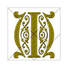 Gold Scroll Design Ornate Ornament Acrylic Tangram Puzzle (6  X 6 ) by Nexatart