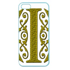 Gold Scroll Design Ornate Ornament Apple Seamless Iphone 5 Case (color)