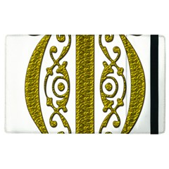 Gold Scroll Design Ornate Ornament Apple Ipad 2 Flip Case by Nexatart