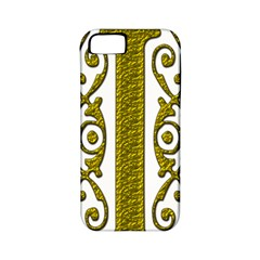 Gold Scroll Design Ornate Ornament Apple Iphone 5 Classic Hardshell Case (pc+silicone) by Nexatart