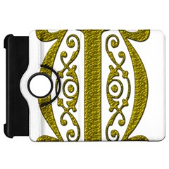 Gold Scroll Design Ornate Ornament Kindle Fire Hd 7  by Nexatart