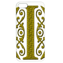 Gold Scroll Design Ornate Ornament Apple Iphone 5 Hardshell Case With Stand by Nexatart