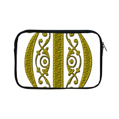 Gold Scroll Design Ornate Ornament Apple Ipad Mini Zipper Cases by Nexatart