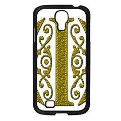 Gold Scroll Design Ornate Ornament Samsung Galaxy S4 I9500/ I9505 Case (black)