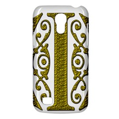 Gold Scroll Design Ornate Ornament Galaxy S4 Mini by Nexatart