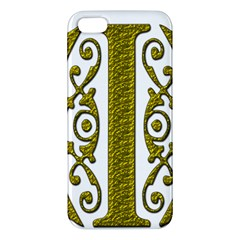 Gold Scroll Design Ornate Ornament Iphone 5s/ Se Premium Hardshell Case by Nexatart
