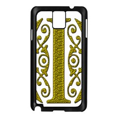 Gold Scroll Design Ornate Ornament Samsung Galaxy Note 3 N9005 Case (black)