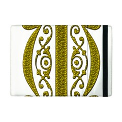 Gold Scroll Design Ornate Ornament Ipad Mini 2 Flip Cases
