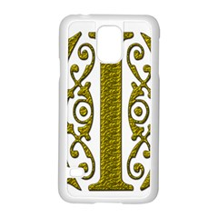 Gold Scroll Design Ornate Ornament Samsung Galaxy S5 Case (white)