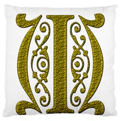 Gold Scroll Design Ornate Ornament Standard Flano Cushion Case (two Sides)