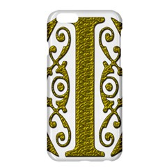 Gold Scroll Design Ornate Ornament Apple Iphone 6 Plus/6s Plus Hardshell Case by Nexatart