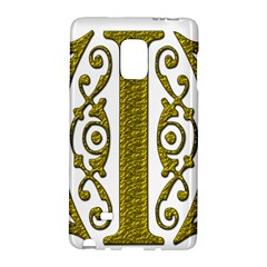 Gold Scroll Design Ornate Ornament Galaxy Note Edge by Nexatart