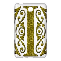 Gold Scroll Design Ornate Ornament Samsung Galaxy Tab 4 (7 ) Hardshell Case