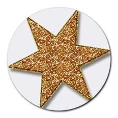 Star Glitter Round Mousepads by Nexatart