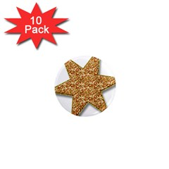 Star Glitter 1  Mini Magnet (10 Pack)
