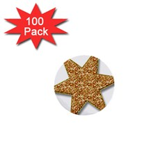 Star Glitter 1  Mini Buttons (100 Pack)