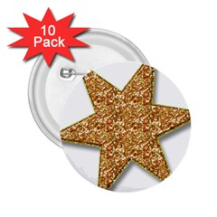 Star Glitter 2 25  Buttons (10 Pack)  by Nexatart