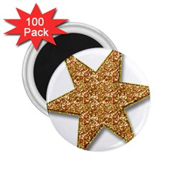Star Glitter 2 25  Magnets (100 Pack)
