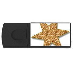 Star Glitter Usb Flash Drive Rectangular (4 Gb) by Nexatart