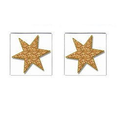 Star Glitter Cufflinks (square)