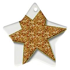 Star Glitter Star Ornament (two Sides)