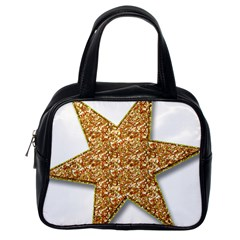 Star Glitter Classic Handbags (one Side)