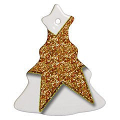 Star Glitter Christmas Tree Ornament (two Sides)